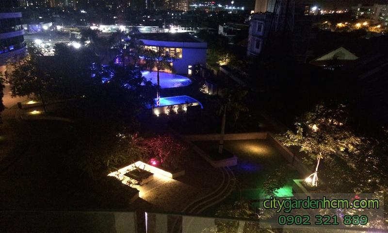 view hồ bơi tại tầng 4 căn hộ cao cấp CITY GARDEN