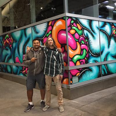 Mario Navasero and Daryll Peirce Artspan mural