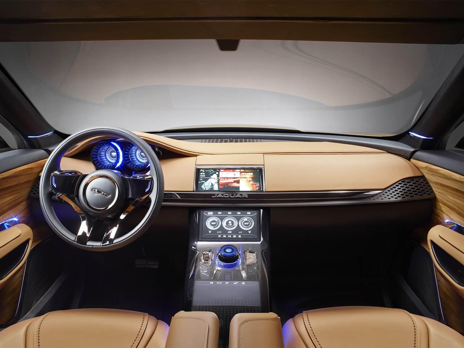 Jaguar f pace suv chega em 2016 para encarar o bmw x3 for Interieur jaguar f pace