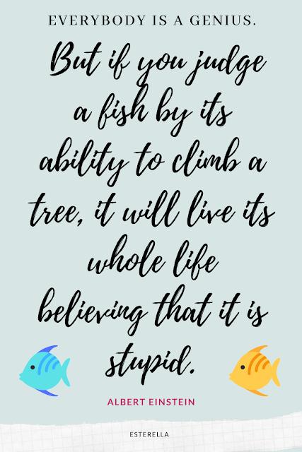 Einstein intelligence and fish quote