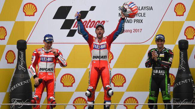 Dovizioso Kalahkan Lorenzo di Sepang, Malaysia