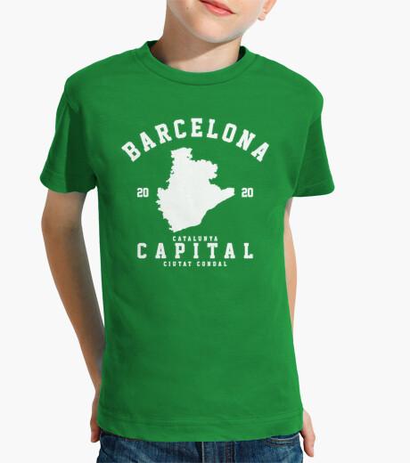 Camisetas Niño - Diseño Barcelona para tejidos oscuros