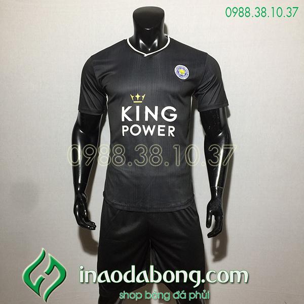 Áo bóng đá câu lạc bộ Leicester màu đen 2020