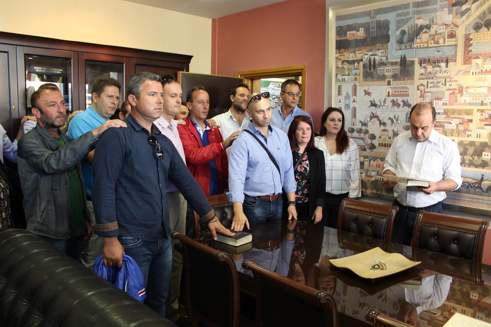 Ορκίστηκαν και αναλαμβάνουν υπηρεσία οι νέοι υπάλληλοι του ΦΟΔΣΑ Λάρισας