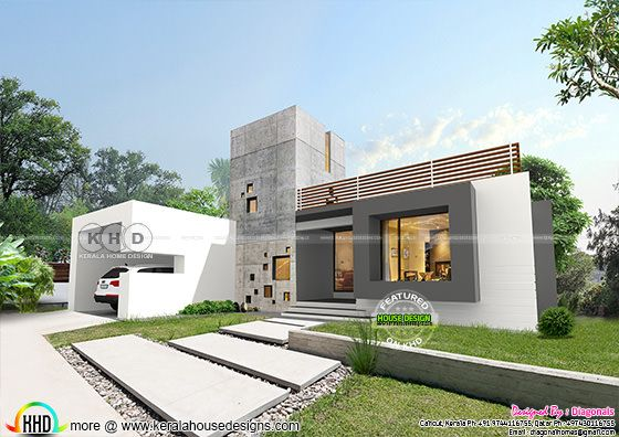 Exact single floor contemporary Kerala home design