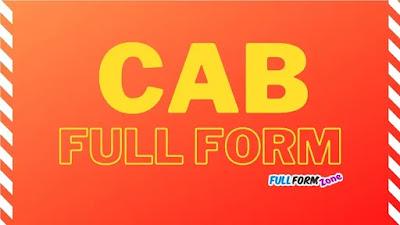 CAB Full Form