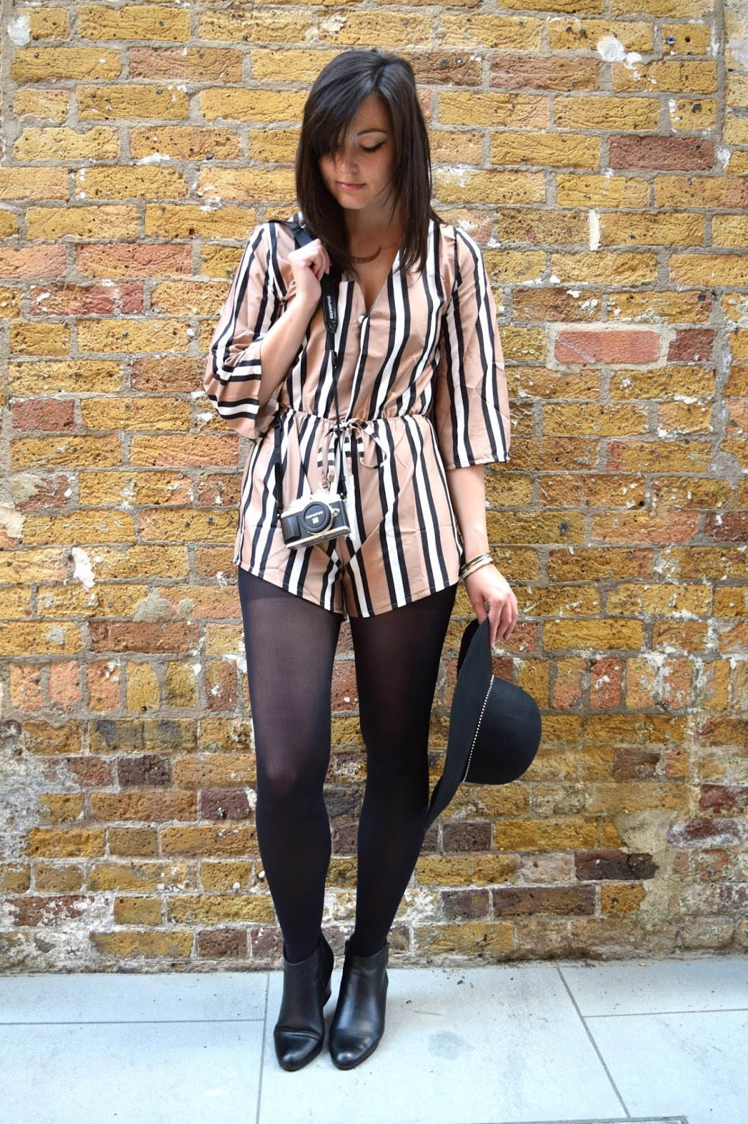 stripey playsuit from rosegal fashion post