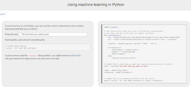 Usamos ML en Python.