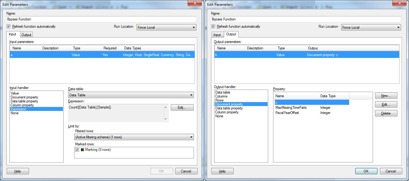 Spotfire Developer: Update a doc property, trigger an