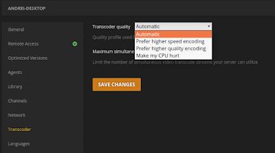 Plex subtitle settings