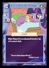 My Little Pony You've Been Up All Night Canterlot Nights CCG Card
