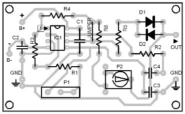 Parts-Placement-Layout-Wienbridge-Oscillator