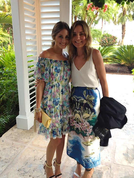 Everyone Who Knows Olivia S Style Will Know That She Loves Tibi Here Is With The Designer Amy Smilovic At A Friend Wedding On An Island In