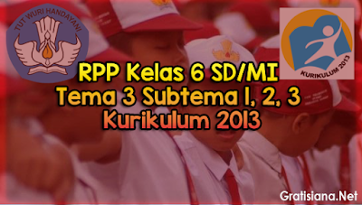 Download RPP Kelas 6 SD/MI Tema 3 Subtema 1, 2, 3