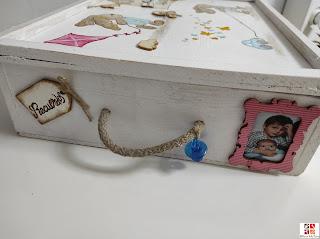 caja con motivos infantiles