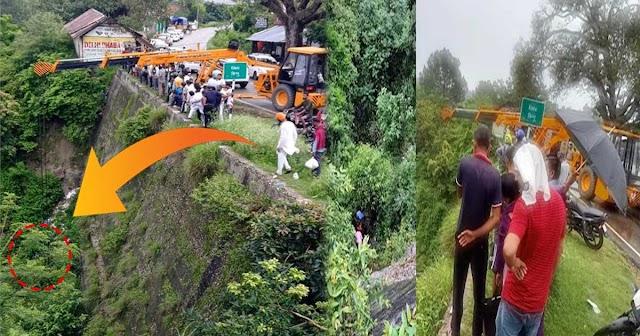 हिमाचल: पहाड़ी से टकराने के बाद 150 फीट गहरी खाई में समाई कार, पति-पत्नी थे सवार