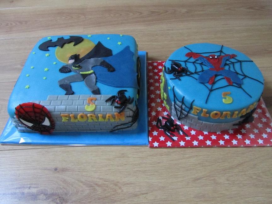 Top Taartje maken: Batman en Spiderman taart #NH68