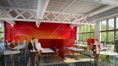 Perspective 3d restaurant rie centre de production