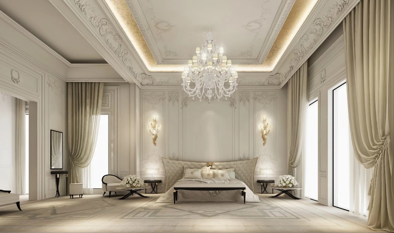 Exploring luxurious homes majestic bedroom interior Grand home furniture dubai