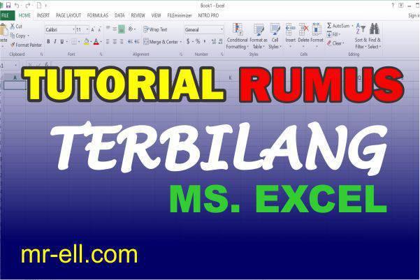 Tutorial Mengubah Angka Menjadi Huruf (Fungsi Terbilang) Ms. Excel