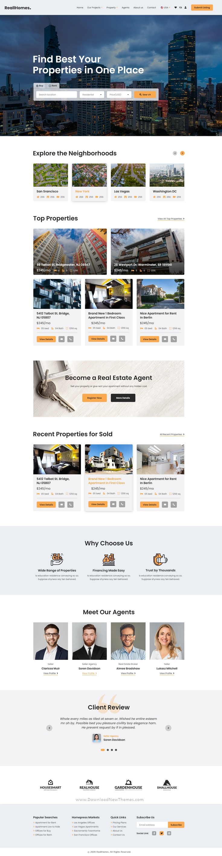 Real Estate & Property Agency XD Template