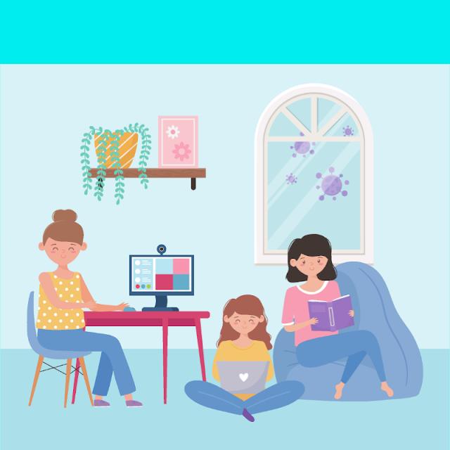 Gambar Kartun Anak Belajar di Rumah (22)