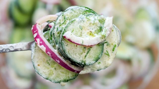 salade, concombre, oignon, aneth, salade maigrir