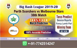 cricket prediction 100 win tips Perth vs Stars