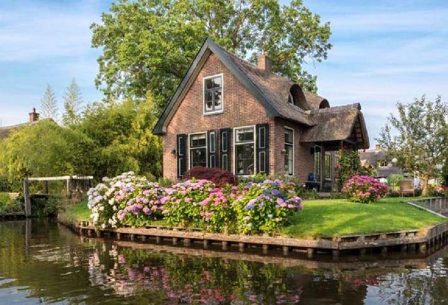 làng giethoorn Hà Lan