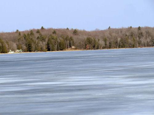 frozen Hamlin Lake