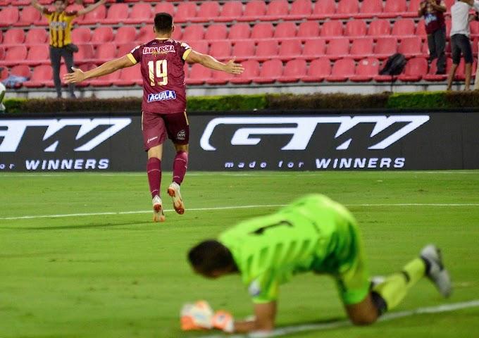 Con triplete de 'El Divino' Rodríguez, DEPORTES TOLIMA goleó al Envigado y sumó su primer botín en la Liga