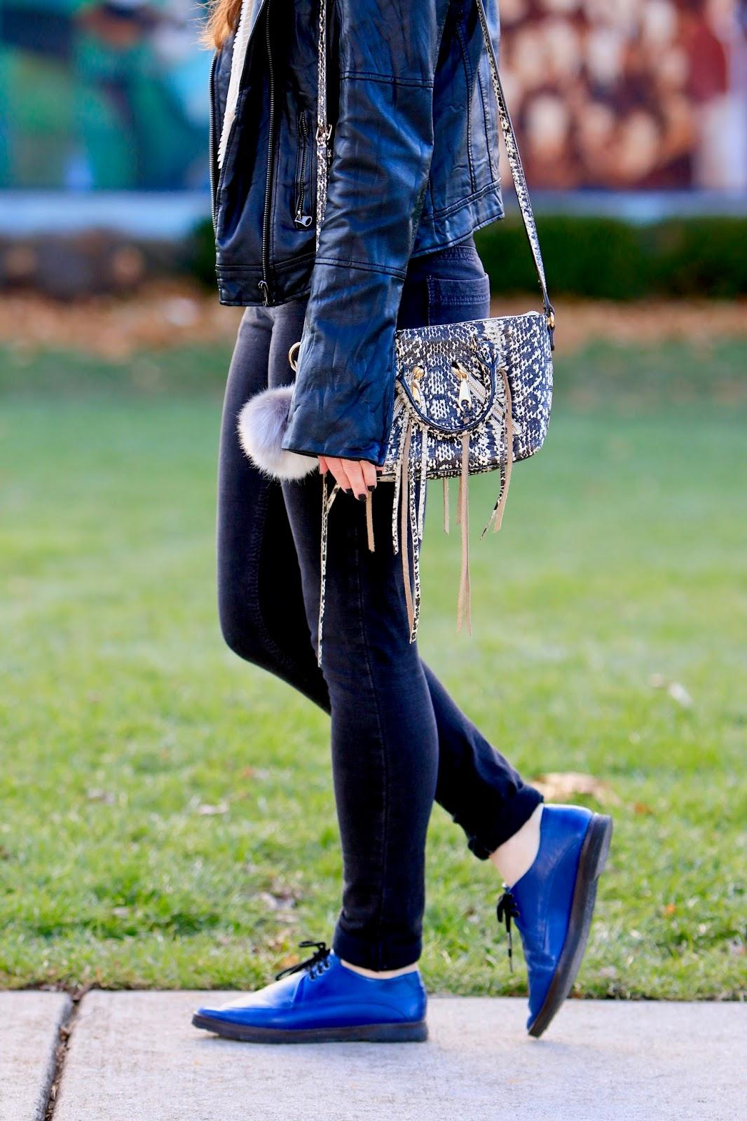 black skinny jeans leather jacket