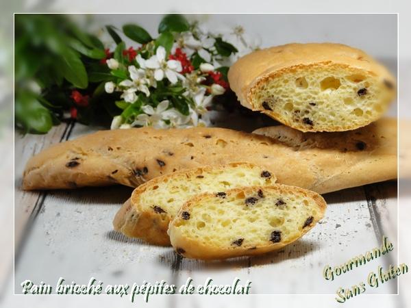 Pain brioché aux pépites de chocolat avec farine sans gluten MON FOURNIL