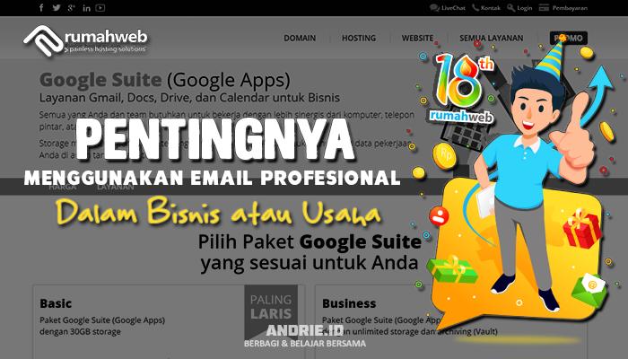 Pentingnya Menggunakan Email Profesional Dalam Bisnis atau Usaha