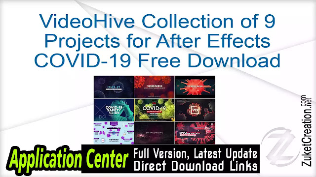 VideoHive Collection of 9 Projects for After Effects COVID-19 Free Download