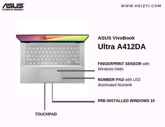 Number Pad ASUS VivoBook Ultra A412DA