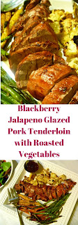 BIG BOLD flavors is what Blackberry Jalapeno Galzed Pork Tenderloin with Roasted Vegetables is all about.  Let's AMP up your grilling this summer! - Slice of Southern