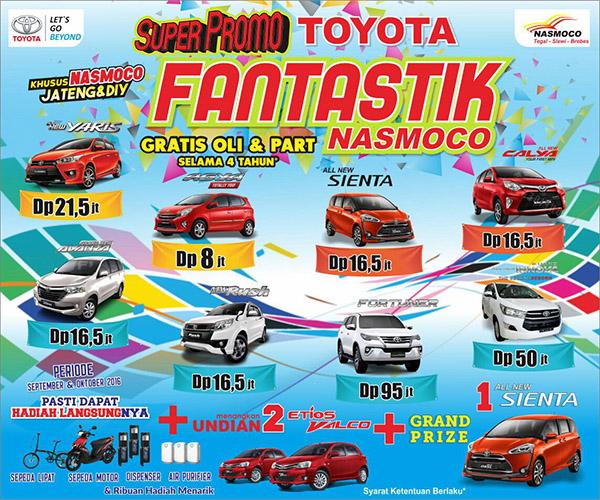 Promo Toyota Tegal DP dan Kredit Murah