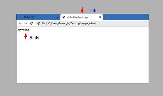 html webpage