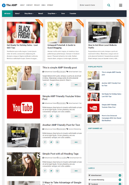 The AMP Best Blogger Templates