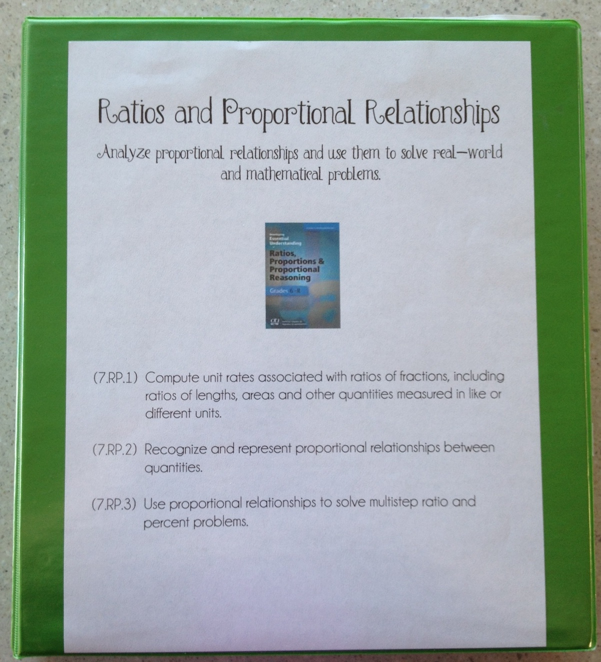 Middle School Math Rules Ratio And Proportional Reasoning