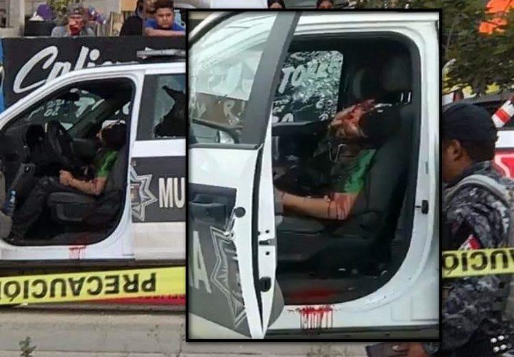 VIDEO: Sicario sorprende y roba patrulla a policías durante enfrentamiento, lo emboscan y ejecutan en Tijuana.