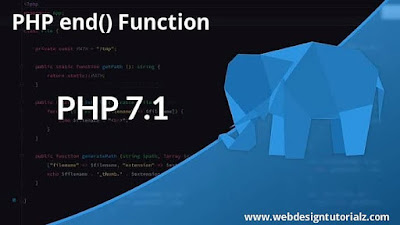 PHP end() Function