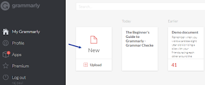 Using Grammarly editor online