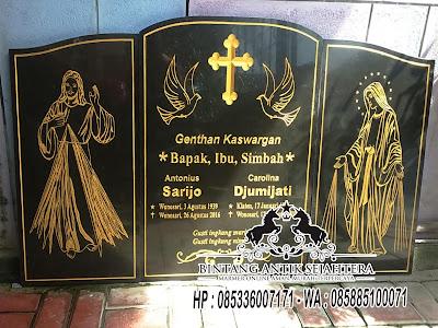 Bentuk Nisan Kristen, Bongpay Kristen Granit, Model Nisan Kristen Granit