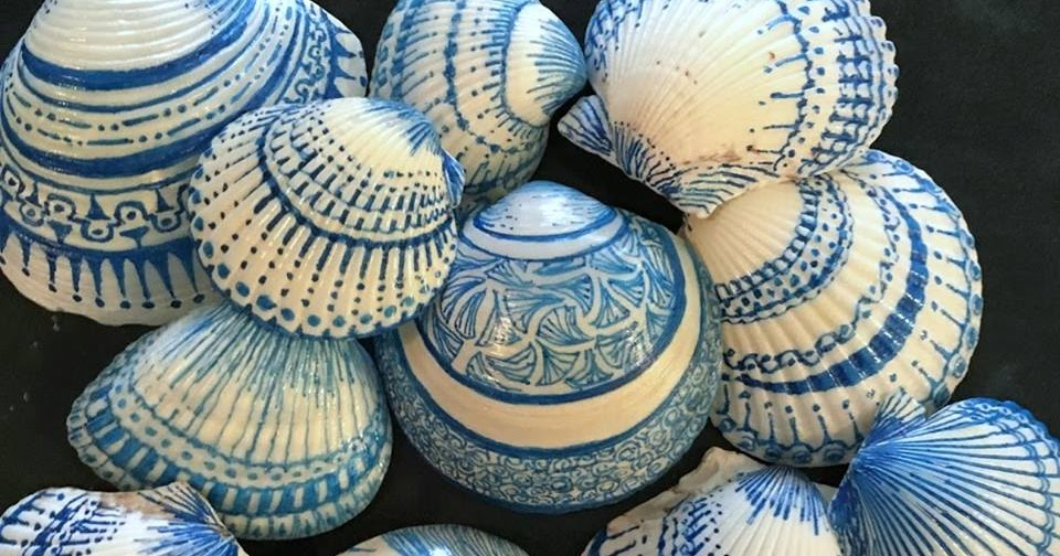 Experimenting: Shells Painted With Sharpie