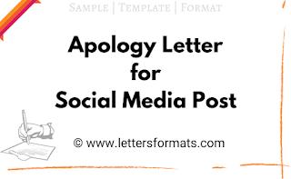 apologies for social media posts