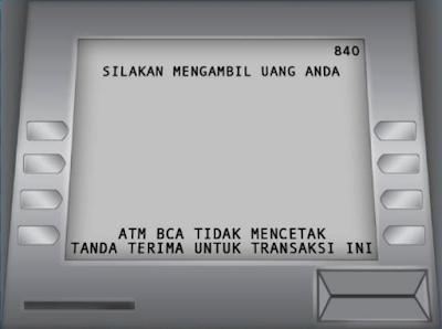 Gambar ATM BCA, Silahkan ambil uang di mesin ATM - hostze.net