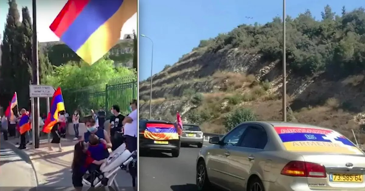 Israelis Make Their Way to Jerusalem In Support Of Armenia Demanding That The Israeli Government Stops Selling Weapons To Azerbaijan