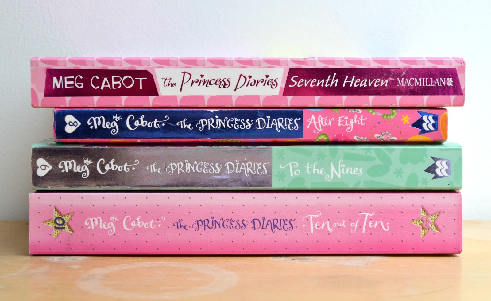 Books 7, 8, 9, and 10 of the Princess Diaries series.